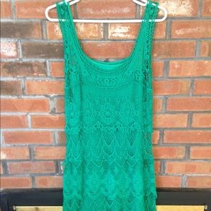 Solitaire Kelly Green Lace Short Mini Dress M